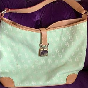 Dooney & Bourke large signature mint green tote